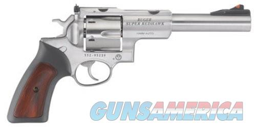 RUG SUPER REDHAWK 10MM 6.5 SS AS RUBBER GRIPS  Guns > Pistols > Ruger Double Action Revolver > Redhawk Type