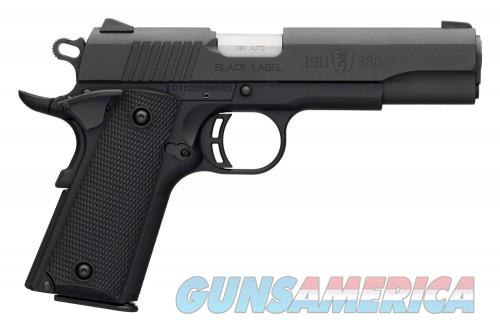 Browning 1911 380 BLKLBL FS 35/8  Guns > Pistols > L Misc Pistols