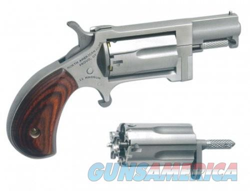 """North American Arms Sidewinder Single Action Revolver .22 WMR/.22 LR 1"""" Barrel 5 Rounds Wood Grips Stainless Finish NAA-SWC  Guns > Pistols > L Misc Pistols"""