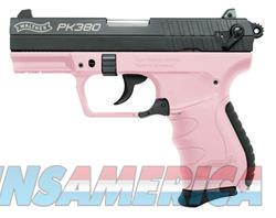Walther PK380 Double-Action Compact Black / Pink .380 ACP 3.6-inch 8rd  Guns > Pistols > Walther Pistols > Post WWII > PK380