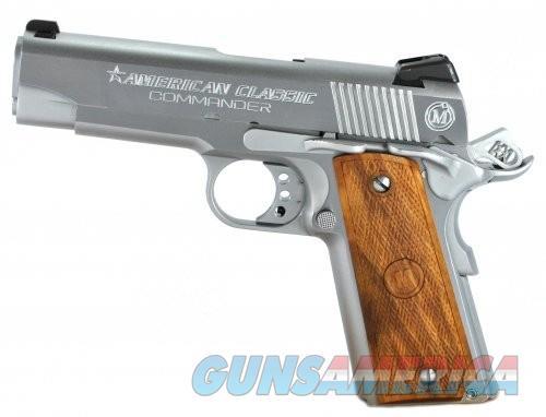 American Classic Commander Chrome/Wood .45ACP 4.25-inch 8rd  Guns > Pistols > L Misc Pistols
