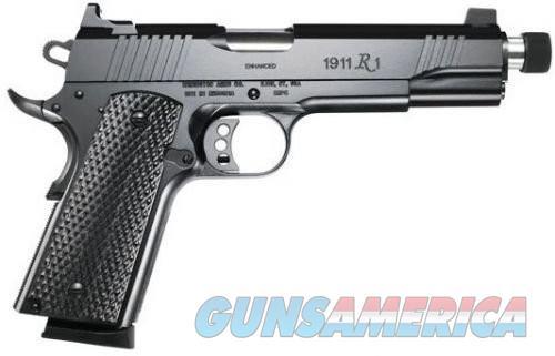 Remington 1911 R1 Enhanced Black .45 ACP 5-inch 8Rd Threaded Barrel Tall 2-Dot Sights  Guns > Pistols > Remington Pistols - Modern > 1911