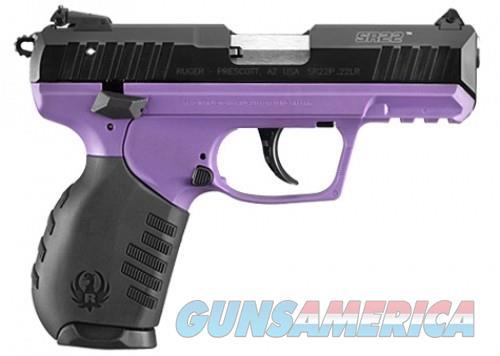 Ruger SR22 Black / Purple .22 LR 3.5-inch 10Rd Adjustable Sights  Guns > Pistols > Ruger Semi-Auto Pistols > SR Family