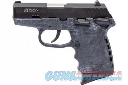 """SCCY CPX-1 Semi Auto Pistol 9mm Luger 3.1"""" Barrel 10 Rounds Manual Safety 3 Dot Sights Polymer Frame Kryptek Typhon Finish  Guns > Pistols > L Misc Pistols"""