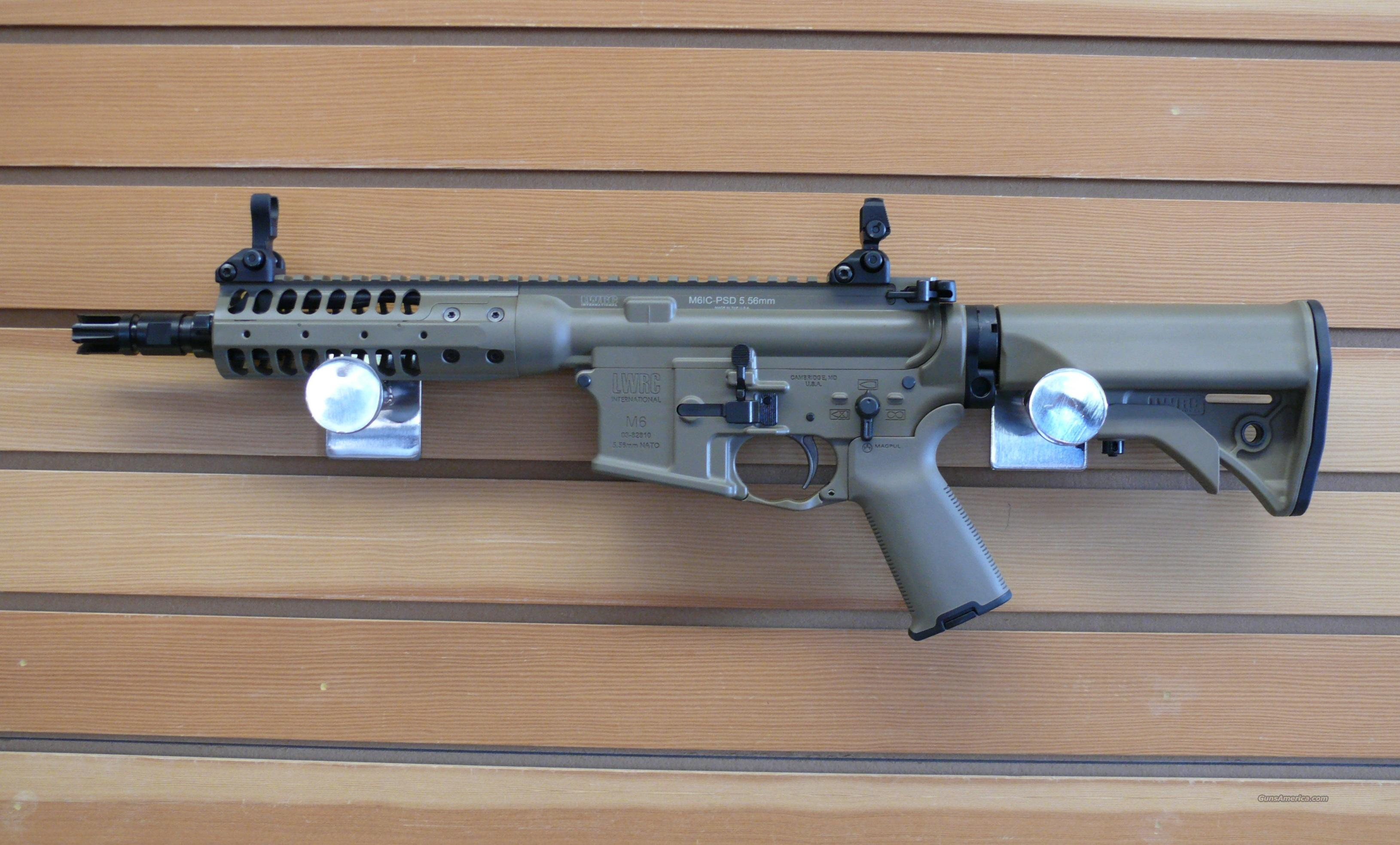 "LWRC Individual Carbine 5.56 Brown Cerakote 8""  Guns > Rifles > AR-15 Rifles - Small Manufacturers > Complete Rifle"