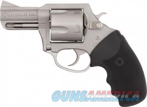 "Charter Arms Bulldog .45 LC Revolver 5 Rounds 2.5"" Barrel Black Rubber Grip Stainless Finish  Guns > Pistols > L Misc Pistols"