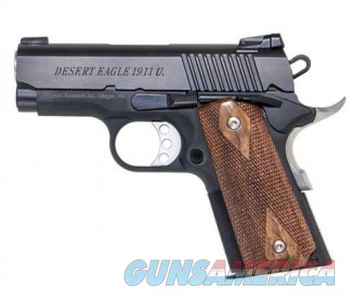 Magnum Research Desert Eagle 1911 Ultra Compact Black .45 ACP 3-inch 6Rds  Guns > Pistols > Magnum Research Pistols