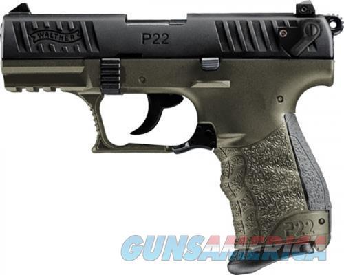 Walther P22Q Military OD Green .22 LR 3.42-inch 10Rds  Guns > Pistols > L Misc Pistols