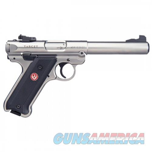 Ruger 40103 Mark IV Target Pistol 22LR 5.5in Bull Barrel Stainless Satin Finish Checkered 10Rd  Guns > Pistols > L Misc Pistols