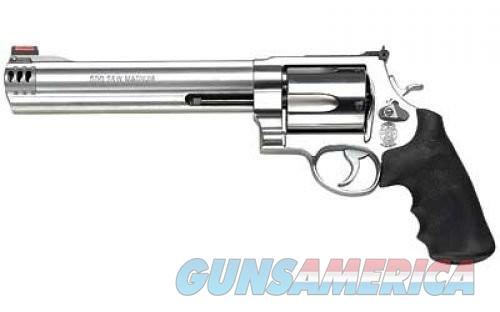Smith and Wesson 500 Stainless .500 SW Magnum 8.375-inch 5Rd Compensated Hi-Viz Sight  Guns > Pistols > Smith & Wesson Revolvers > Full Frame Revolver