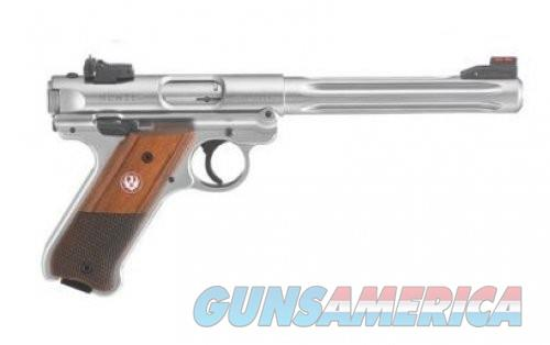 "Ruger Mark IV Hunter 40118 Double Action 22LR 6.88"" Laminate Wood Grip Stainless Steel Barrel  Guns > Pistols > Ruger Semi-Auto Pistols > Mark I/II/III/IV Family"
