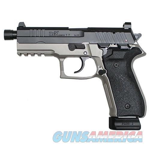 "FIME Group Rex Zero 1 Tactical Semi Auto Pistol 9mm Luger 4.9"" Threaded Barrel 20 Rounds High Profile Steel Sights Optics Ready Platform Black/Smoke Grey  Guns > Pistols > L Misc Pistols"