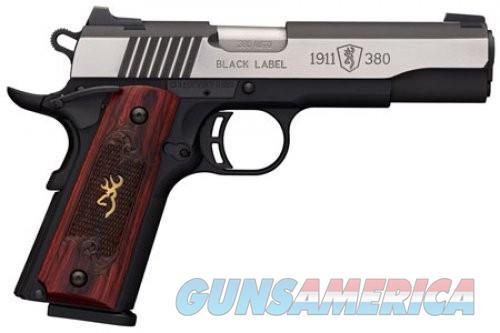 Browning 1911-380 Medallion Pro Black 380ACP 4.25 8 rd  Night Sights  Guns > Pistols > L Misc Pistols