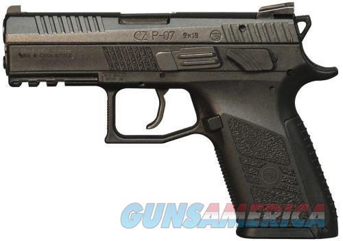 CZ 01086 P07 POLY 9MM BLK 10RD  Guns > Pistols > CZ Pistols