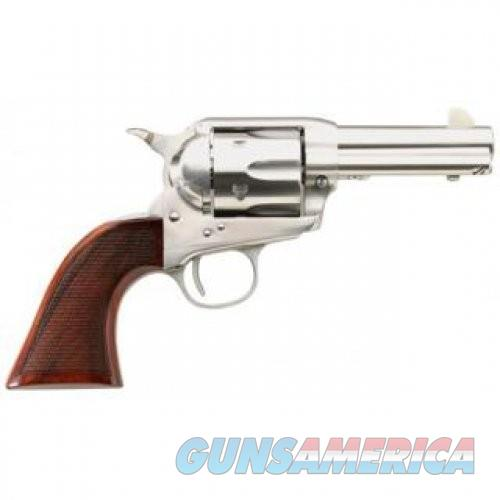 """Taylor's & Co The Runnin' Iron .45 LC Single Action Revolver 3.5"""" Barrel 6 Rounds Checkered Walnut Grips Stainless Steel Finish  Guns > Pistols > L Misc Pistols"""