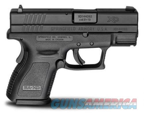 Springfield XD9 ESS 9mm 3 inch Black 10rd  Guns > Pistols > L Misc Pistols