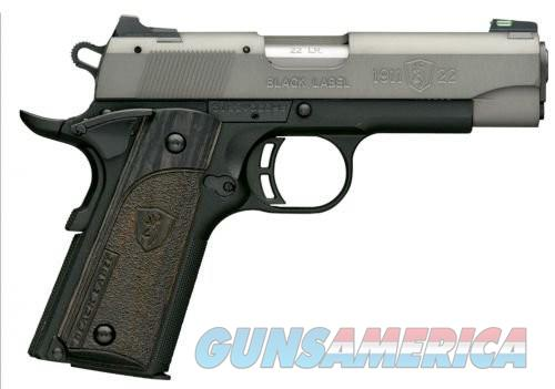 Browning Black Label Semi Auto Handgun Black 22 LR 4.2 inch 10 rd  Guns > Pistols > Browning Pistols > Other Autos