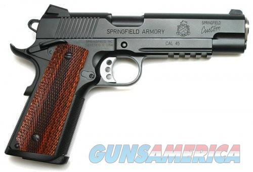 Springfield Custom Professional 1911-A1 Rail Black 45ACP 5-inch 7Rd  Guns > Pistols > Springfield Armory Pistols > 1911 Type