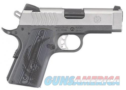 Ruger SR1911 Lightweight Officer Stainless 9mm 3.6-inch 8Rds Novak 3-Dot Adj RS/Fixed FS sights  Guns > Pistols > L Misc Pistols