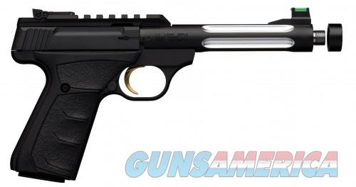 Browning Buck Mark Plus Lite Flute UFX Suppressor Ready Matte Black .22 LR 6-inch 10Rds  Guns > Pistols > L Misc Pistols