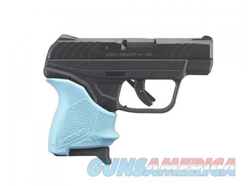 Ruger LCP II Blued .380ACP 2.75-inch 6rd Turquoise Hogue Slip-On Grip  Guns > Pistols > L Misc Pistols