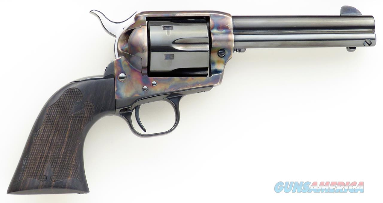 Colt Custom Shop SAA, 1988, 4.75-inch, color case frame, ebony stocks, unfired in box  Guns > Pistols > Colt Single Action Revolvers - 3rd Gen.