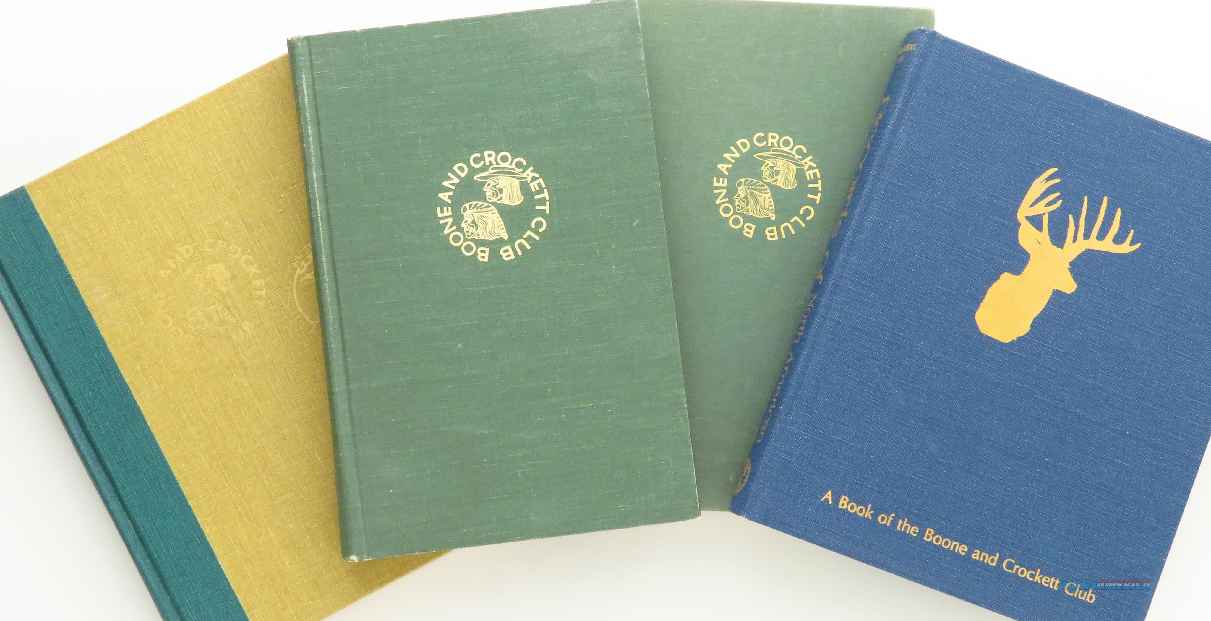 Boone and Crockett Club Records of North American Big Game set, 1971, 1973, 1977 and 1981  Non-Guns > Books & Magazines