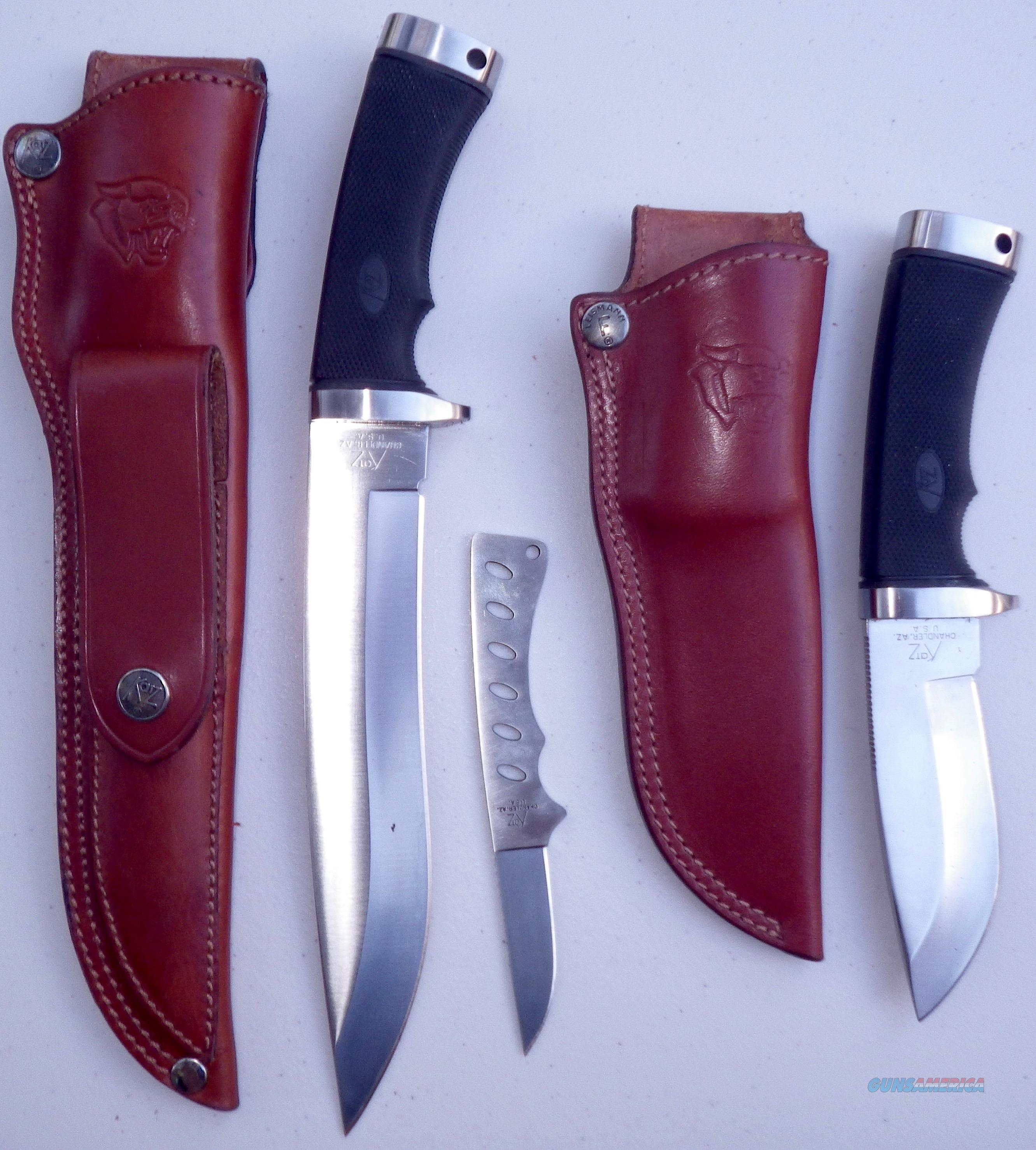 Katz Wild Kat and Lion King skinners, pair, new, sheaths  Non-Guns > Knives/Swords > Knives > Fixed Blade > Hand Made