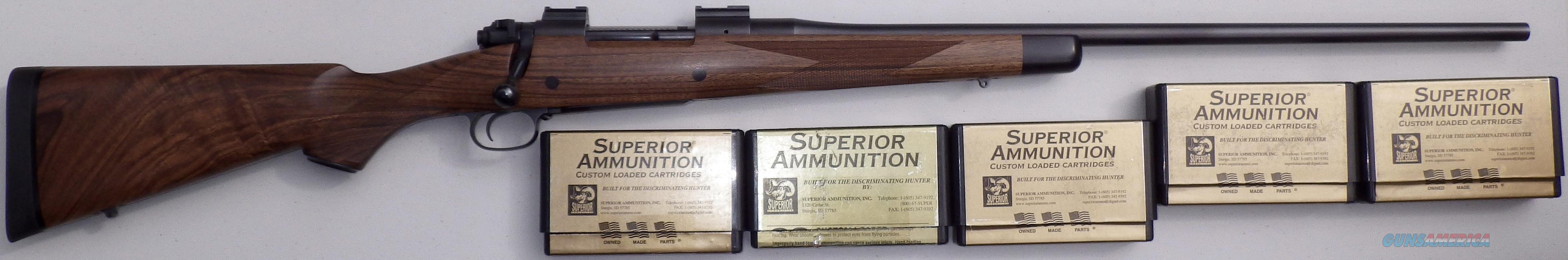 Dakota 76 .300 Dakota, 99%+ condition, jeweled, ebony, Talley, five boxes Superior ammo  Guns > Rifles > Dakota Arms Rifles