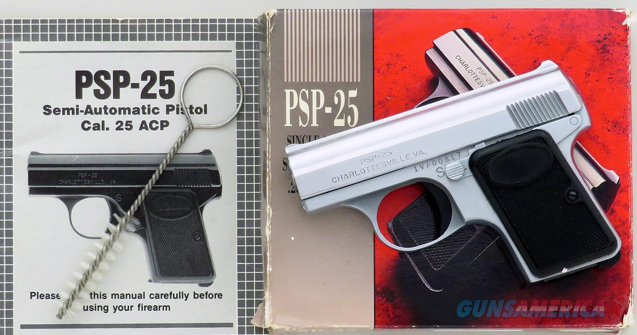 Precision Small Arms PSP-25 .25 ACP, Charlottesville, 1995, tiny, 2.15-inch, box, papers, mint  Guns > Pistols > PQ Misc Pistols