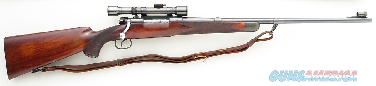 Griffin & Howe .257 Roberts, Winchester 54, cock-on-open, 14 LOP, Hensoldt 4x, logo sling,   Guns > Rifles > Winchester Rifles - Modern Bolt/Auto/Single > Other Bolt Action