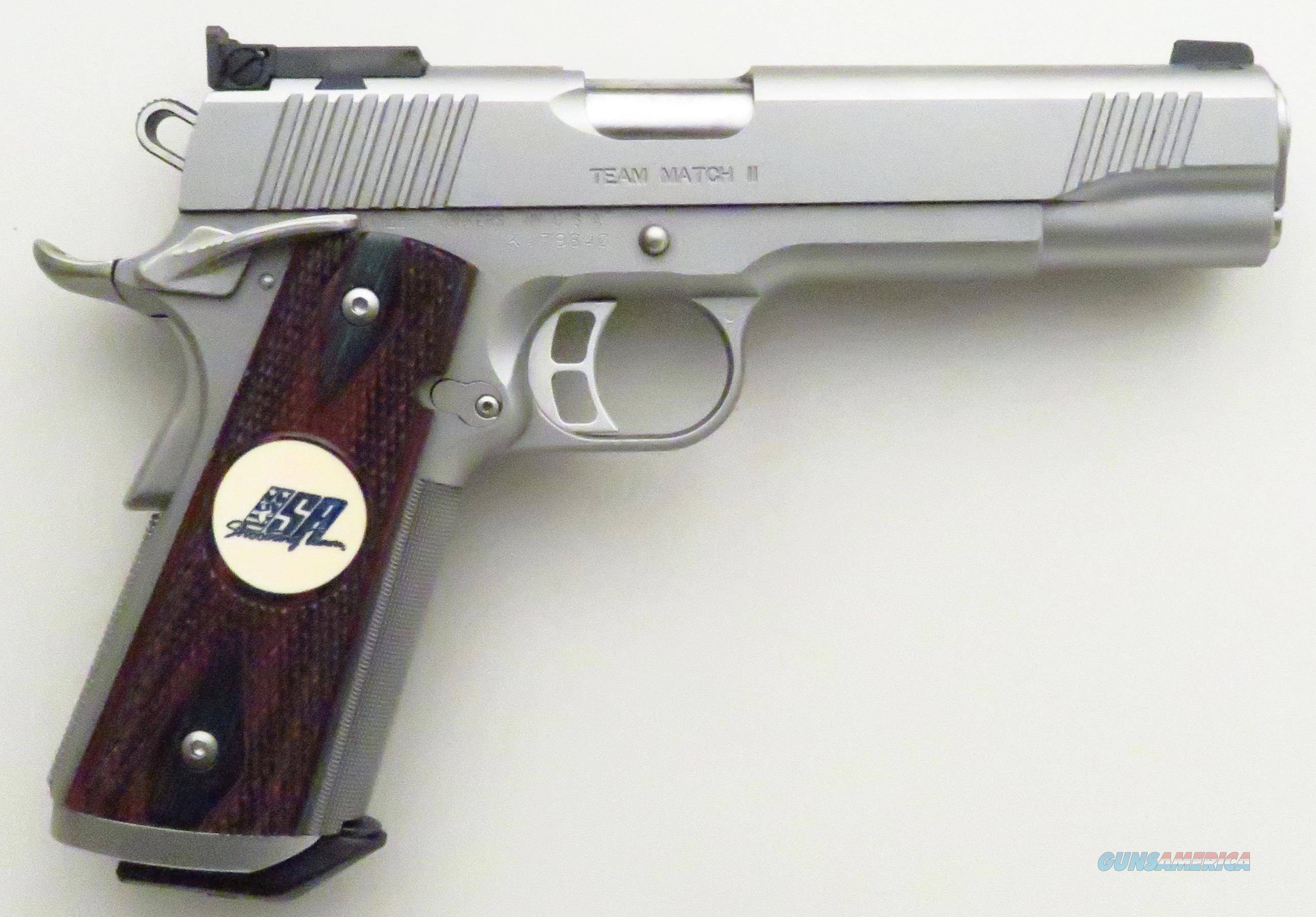 Kimber Team Match II .45 ACP, stainless steel, match grade, ambidextrous, adjustable sight  Guns > Pistols > Kimber of America Pistols