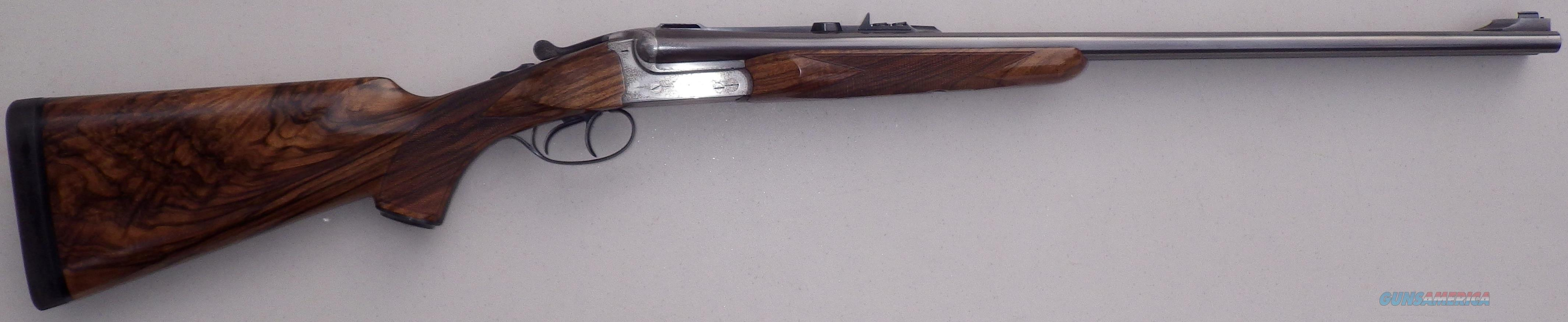 Rigby .35 Rigby SxS double rifle, Barry Lee Hands engraved, supply of custom ammo  Guns > Rifles > Double Rifles (Misc.)