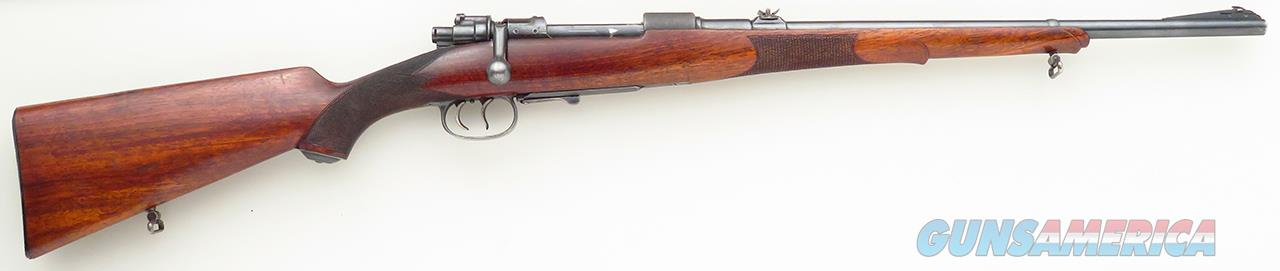 Mauser 98 8x57, unusual Type S carbine, double Schnabel on long forend, 3-leaf  Guns > Rifles > Mauser Rifles > German