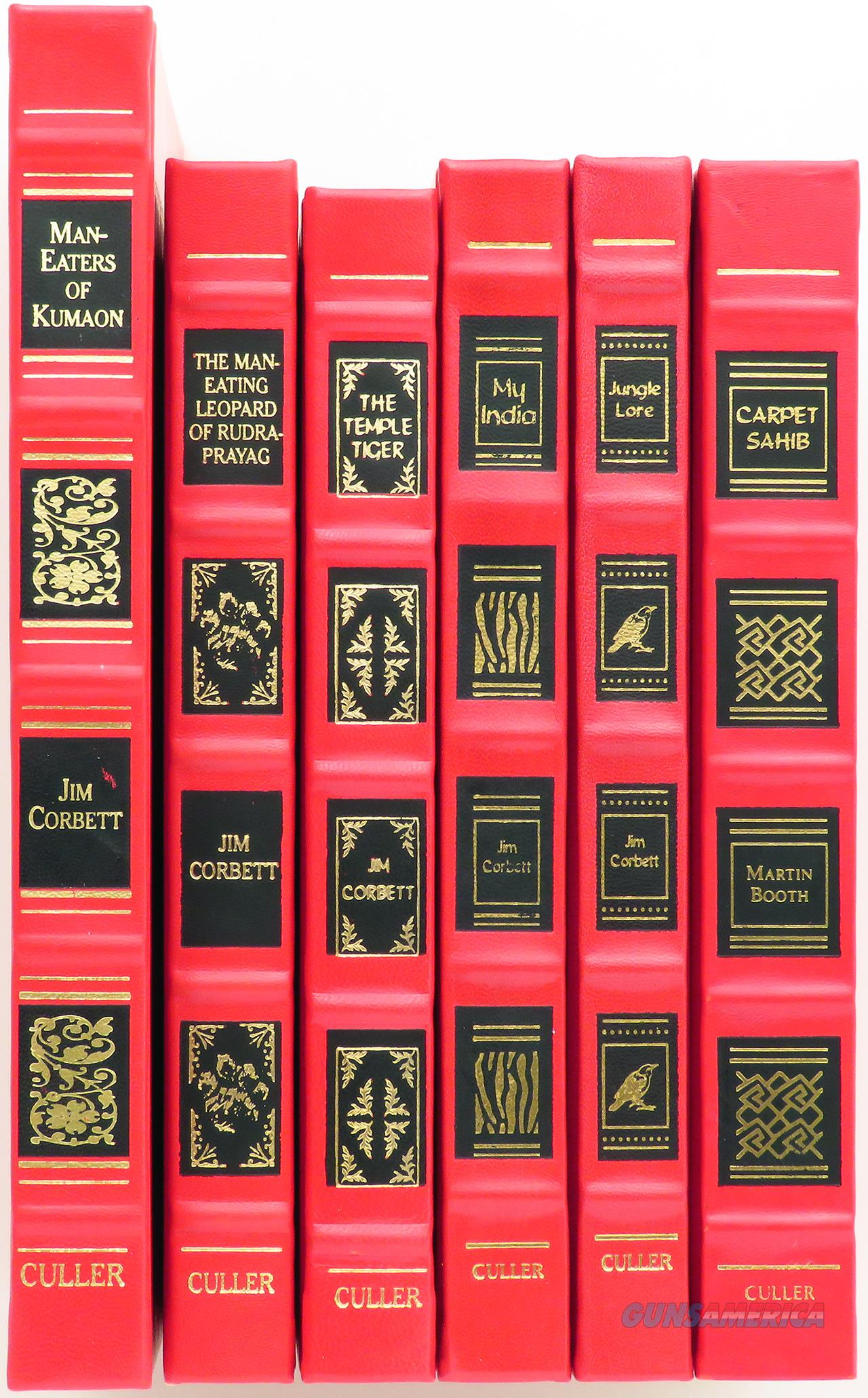 Jim Corbett book Collection of six books, leather, numbered, excellent condition  Non-Guns > Books & Magazines