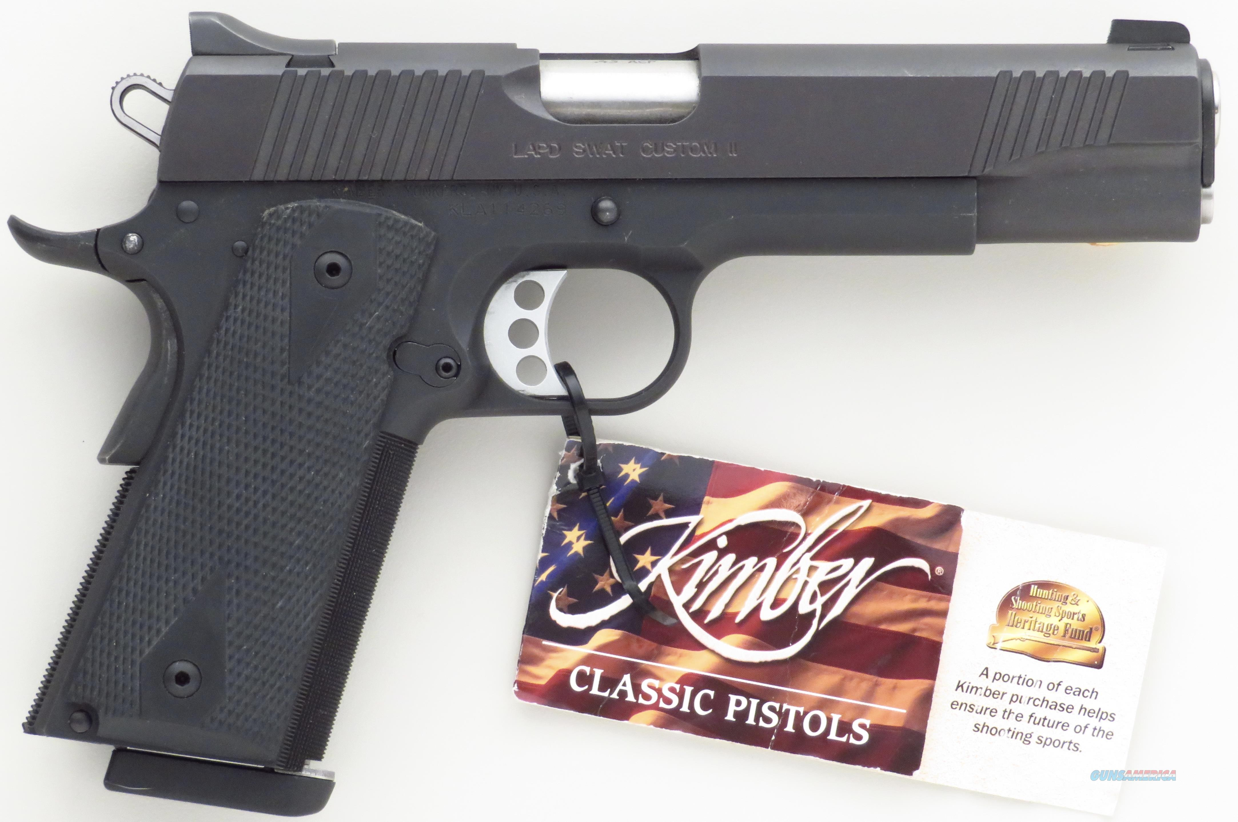 Kimber LAPD SWAT Custom II .45 ACP, unfired, from first production run in 2002  Guns > Pistols > Collectible Pistols