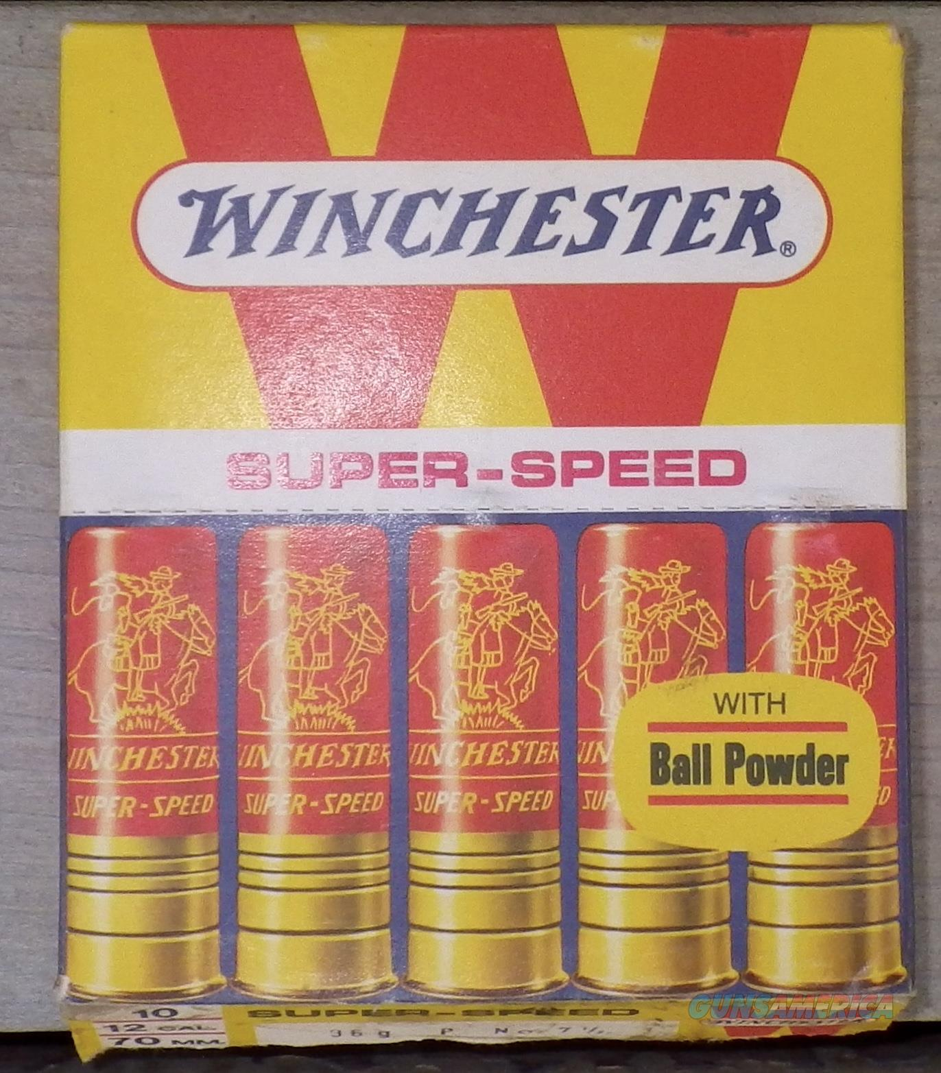 Winchester Super-Speed 12 ga., 10-round pack from Italy, 70mm  Non-Guns > Ammunition