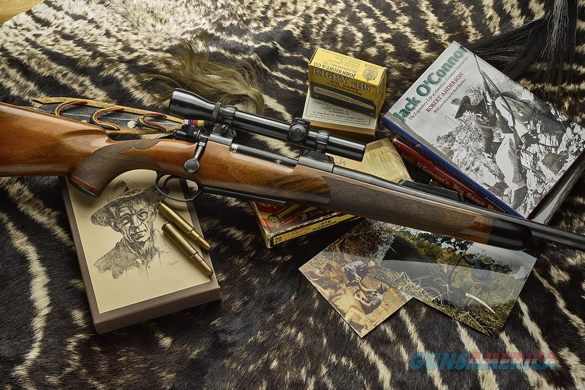 Jack O'Connor's .416 Rigby Magnum, Brevex Magnum Mauser, Burgess metal & Johnson stock, flawless documentation  Guns > Rifles > Mauser Rifles > German