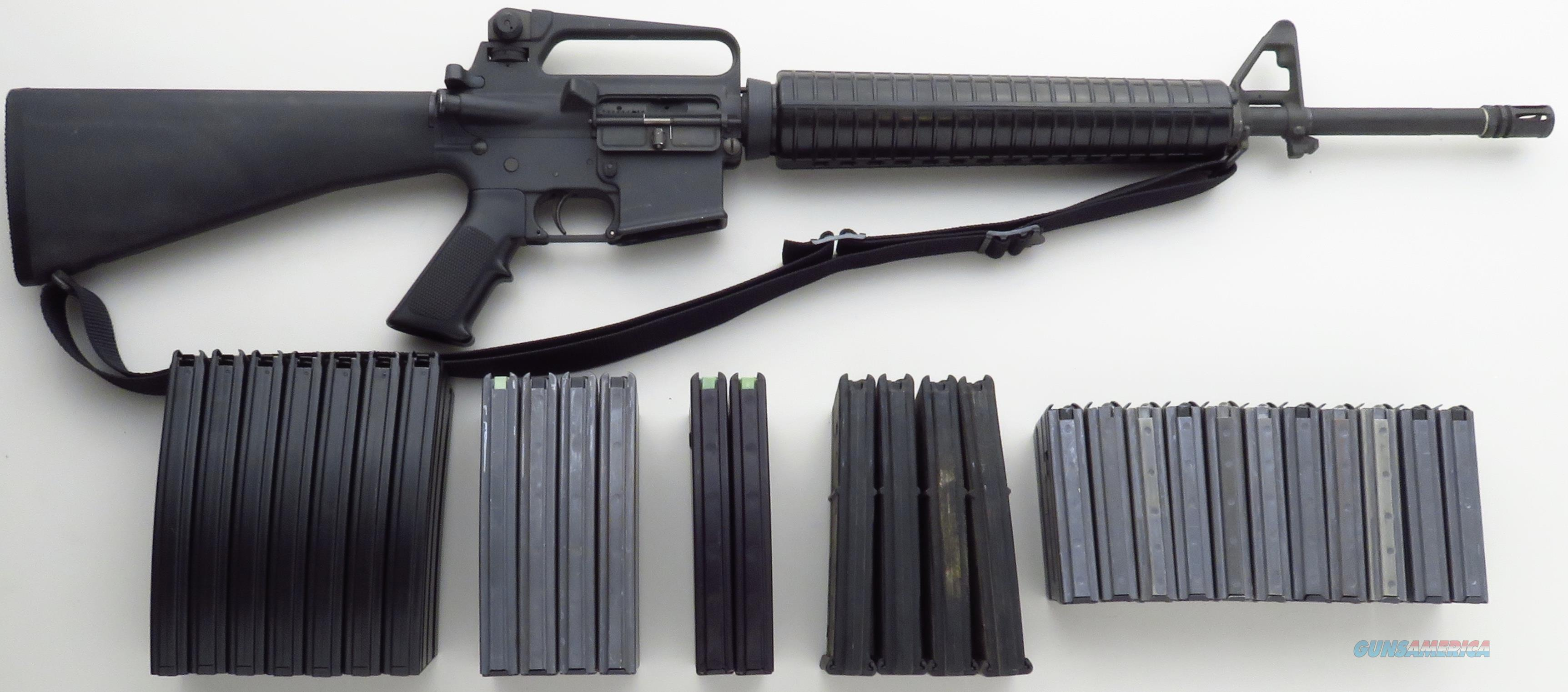 Colt pre-ban AR-15 A2 HBAR Sporter, 28 high-capacity magazines, 1/7 twist, 95%  Guns > Rifles > Colt Military/Tactical Rifles