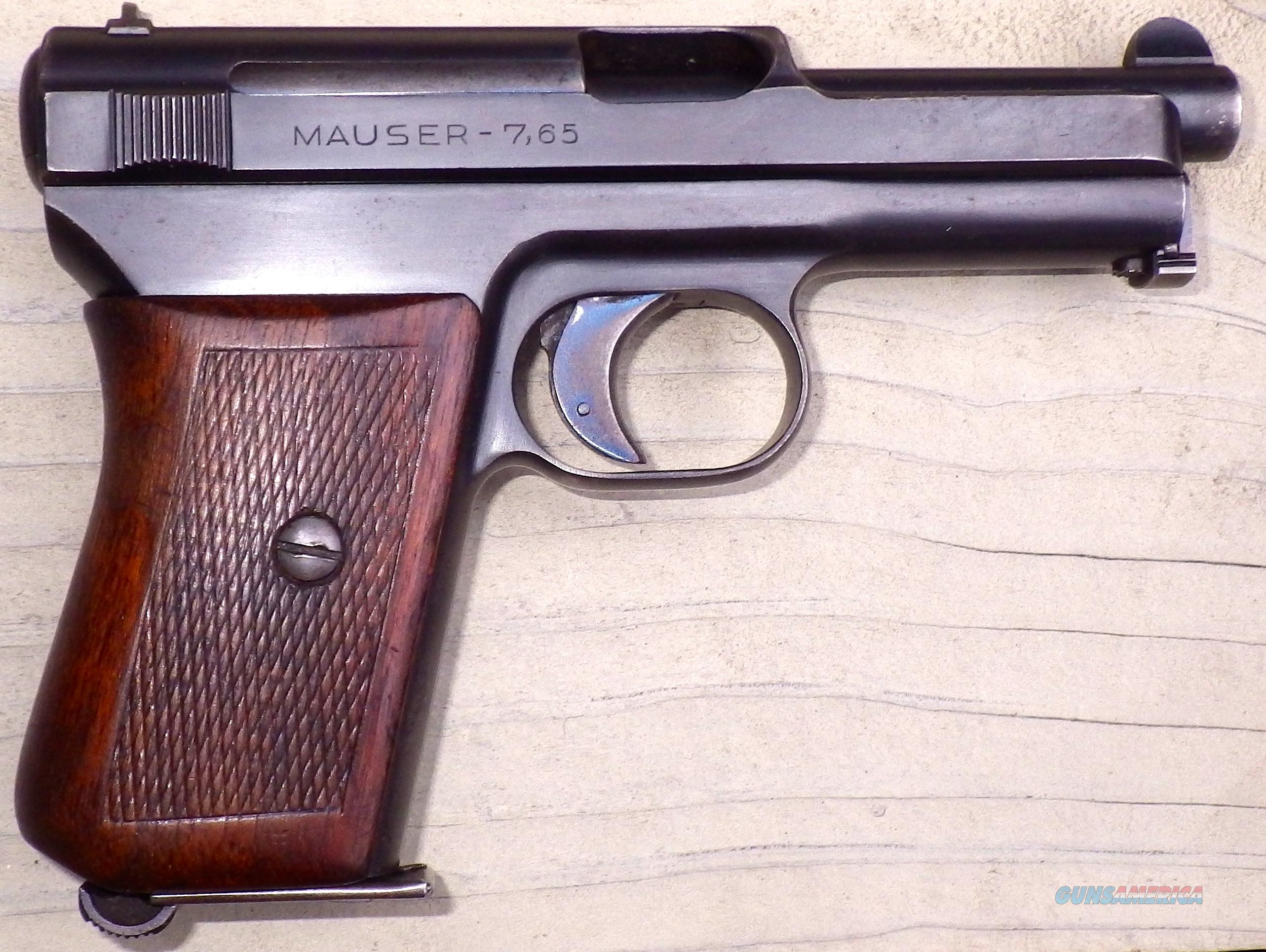 Mauser Model 1914 7.65, wood, 85% condition  Guns > Pistols > Mauser Pistols