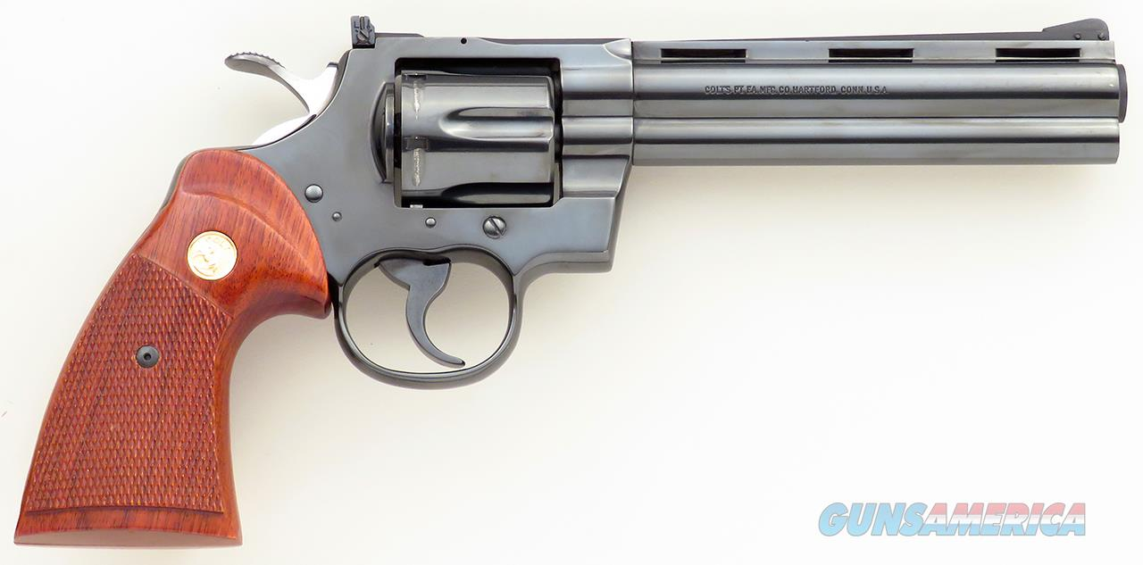 Colt Python .357 Magnum, 6-inch blue, 1979, 99% condition, layaway  Guns > Pistols > Colt Double Action Revolvers- Modern