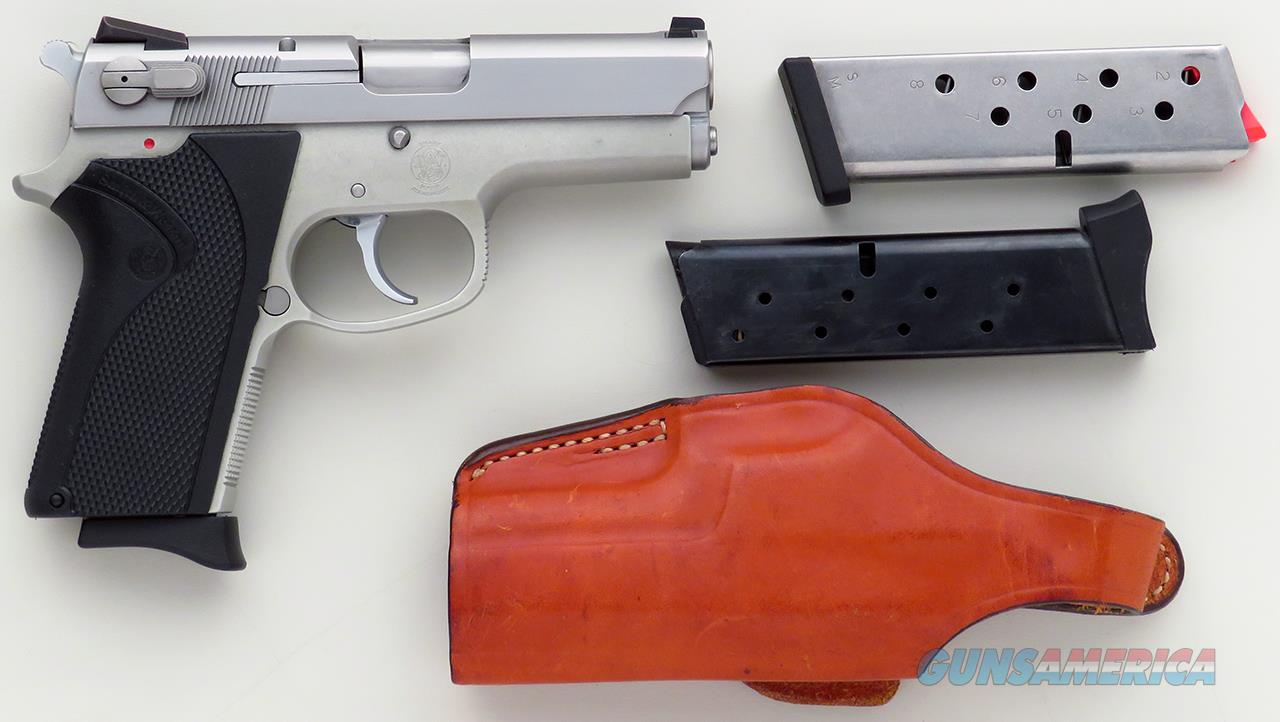 Smith & Wesson 3913 9mm, double action, decocker, stainless, three magazines, Bianchi holster  Guns > Pistols > Smith & Wesson Pistols - Autos > Alloy Frame
