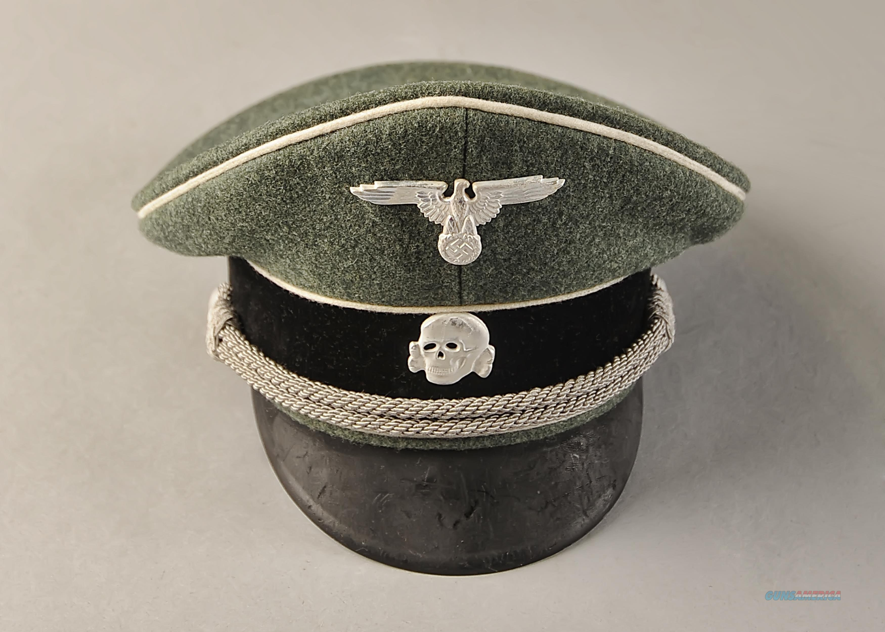 Waffen SS officer's peaked cap, authenticated, fantastic condition  Non-Guns > Military > Clothing/Camo