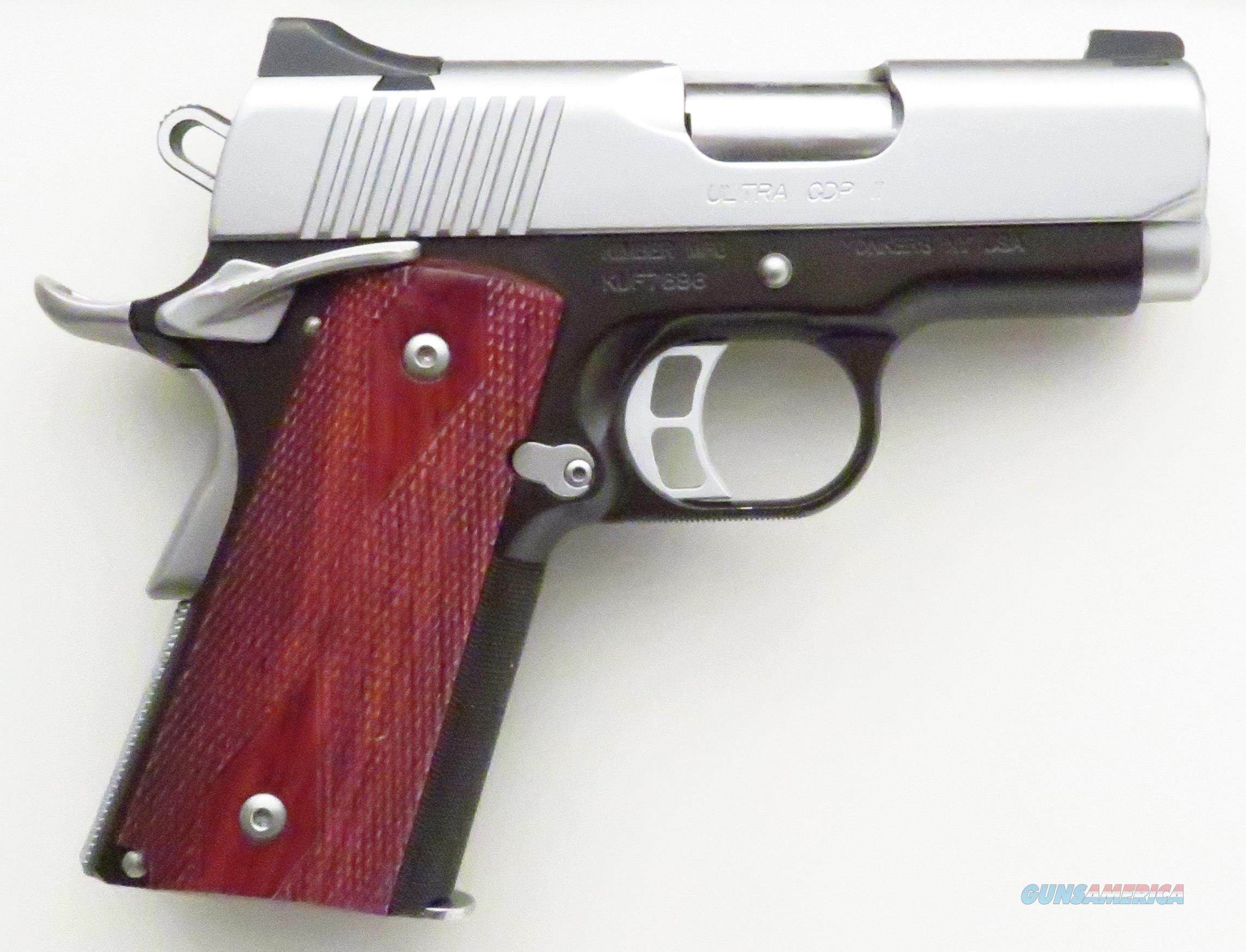 Kimber Ultra CDP II 9mm, night sights, ambidextrous, front strap checkering, 3-inch barrel  Guns > Pistols > Kimber of America Pistols