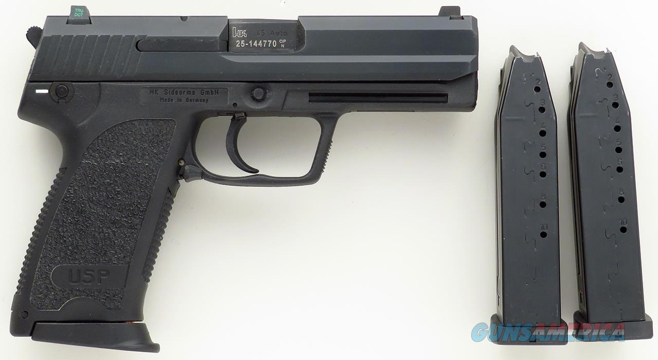 Heckler & Koch / HK USP45 V1 .45 ACP, appears new in case, 3 mags, night sights  Guns > Pistols > Heckler & Koch Pistols > Polymer Frame