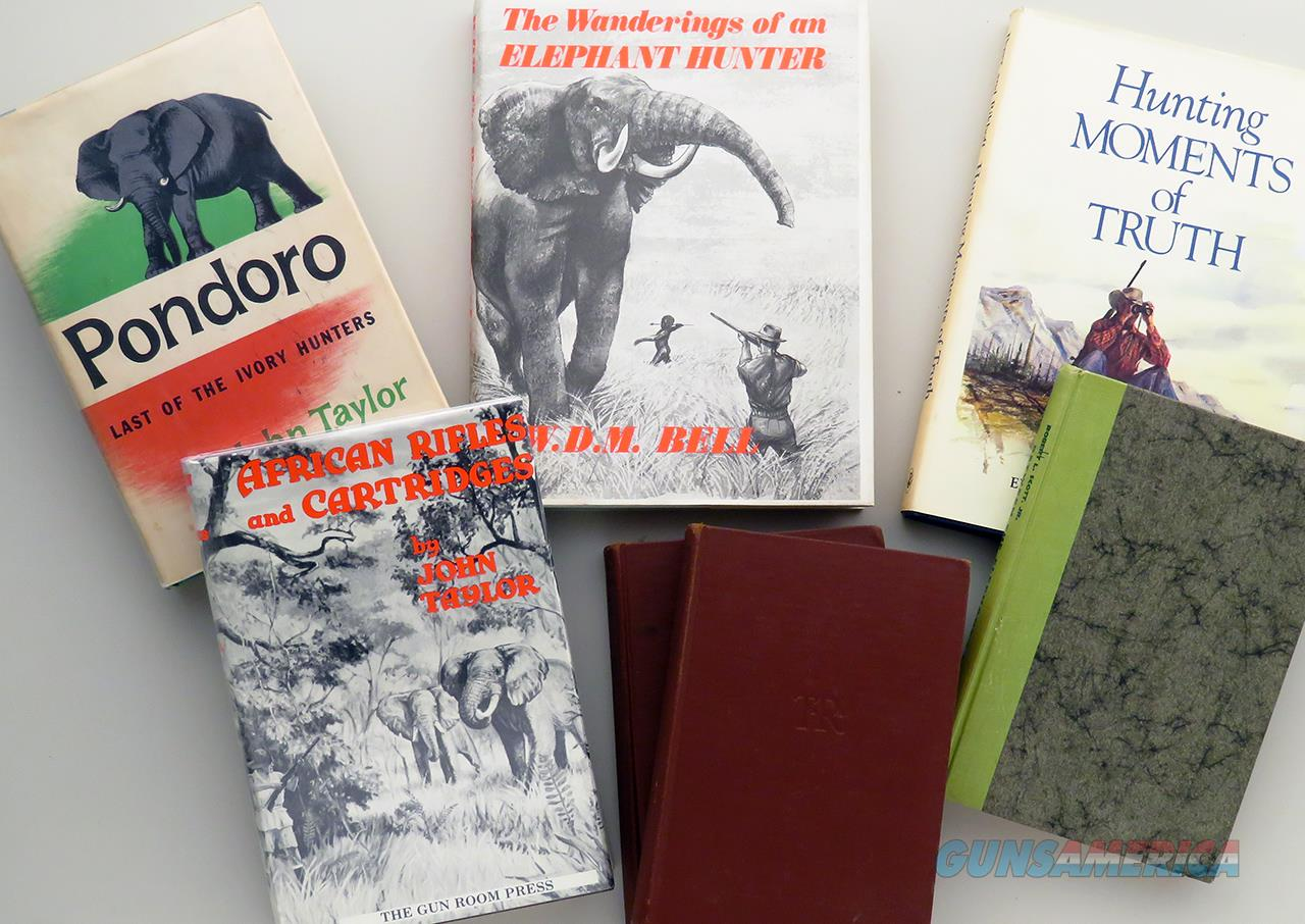 Six African hunting titles, mostly elephant, Roosevelt, Taylor, Bell  Non-Guns > Books & Magazines