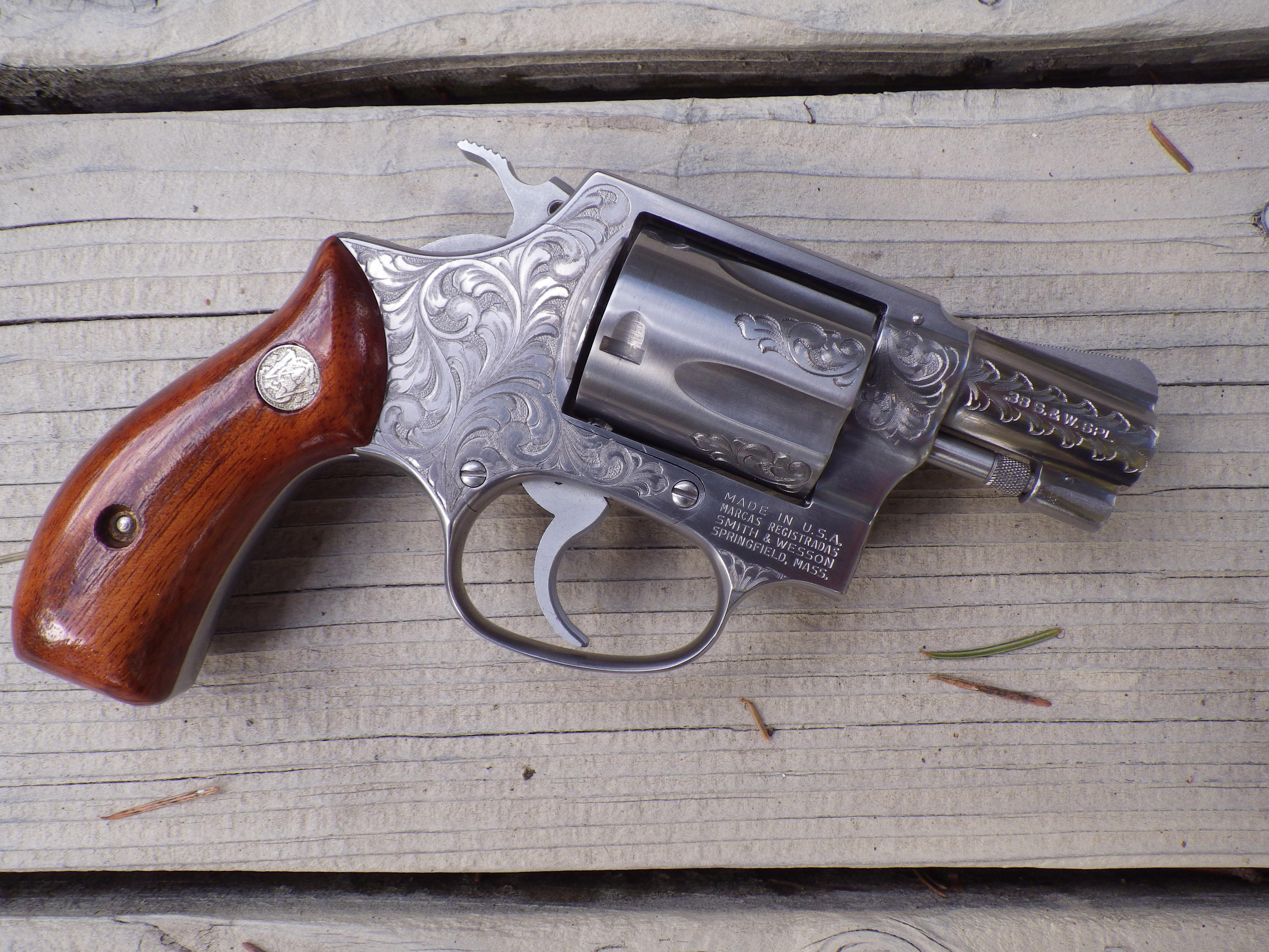 Smith & Wesson Factory Class A engraved Model 60 2-inch, 1980, unfired  Guns > Pistols > Smith & Wesson Revolvers > Full Frame Revolver