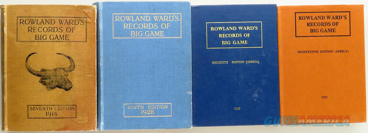 Roland Ward's Big Game Records books, vintage, four editions beginning 1914  Non-Guns > Books & Magazines