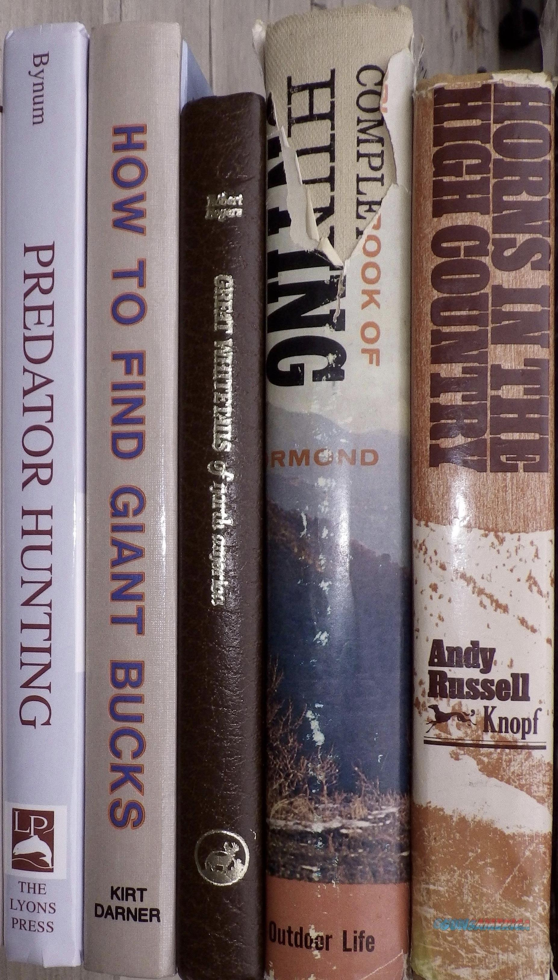 Lot of five hunting books from library of gunwriter Chub Eastman  Non-Guns > Books & Magazines