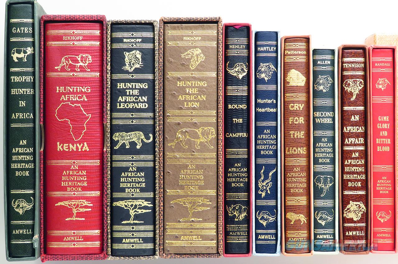 Amwell Press African Hunting Heritage books, ten, limited, signed, slips  Non-Guns > Books & Magazines